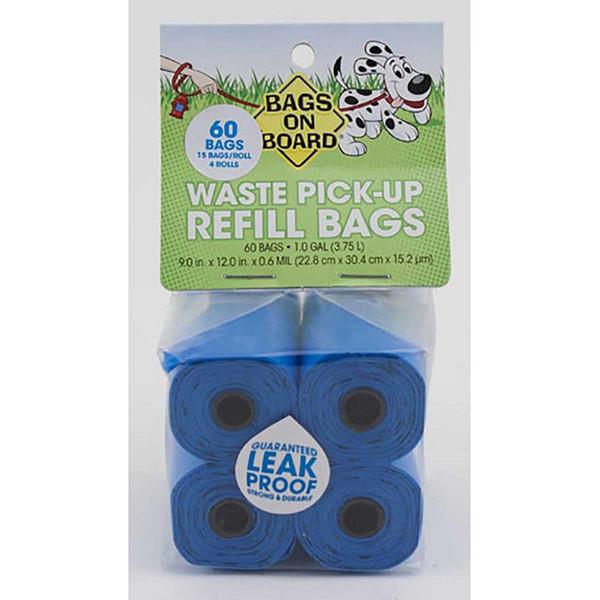 Bags on Board Blue Poop Bag Refill Pack - 60 Bags
