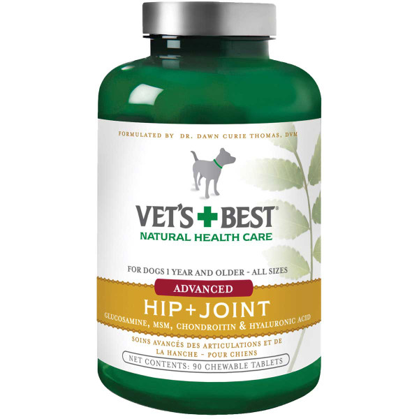 Vet's Best Level 3 Advanced Hip Joint 90 Chewable Tablets for Dogs