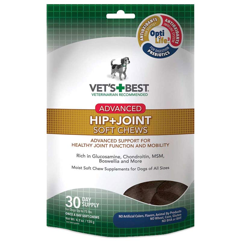 Vet's Best Advanced Hip and Joint Soft Chews for Dogs 30-Day Supply