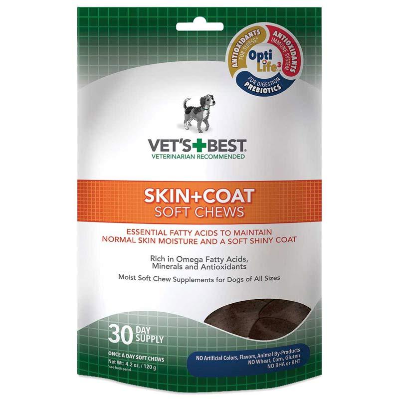 30-Day Supply Vet's Best Skin + Coat Soft Chews for Dogs