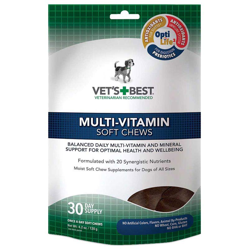 30 Count Vet's Best Multi-Vitamins Soft Chews for Dogs