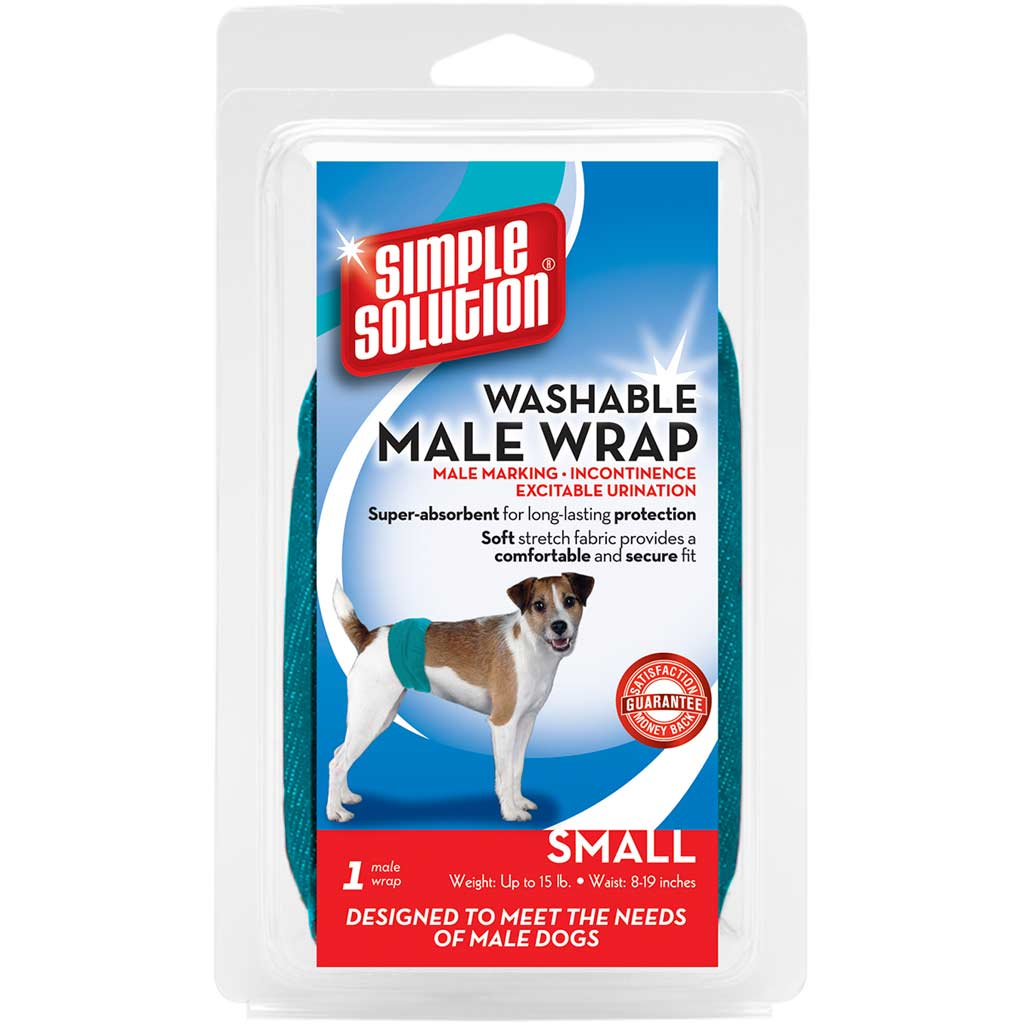 Simple Solution Male Diaper Wraps for Small Size Dogs 15-45 Lbs 13-21 Inches