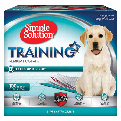 23 inch by 24 inches Simple Solution Puppy Training Pads 100 Count at Ryan's Pet Supplies