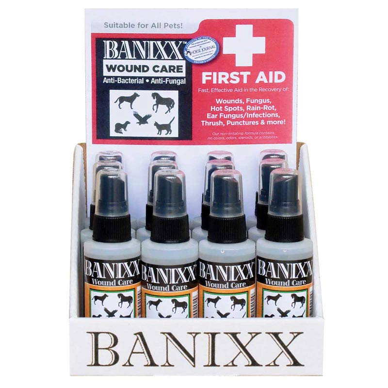 Banixx Wound Care First aid Pet Care for all animals 2 oz Counter Display