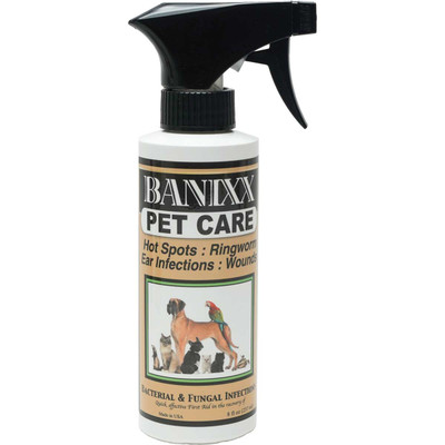 Banixx Pet Care Spray for Bacterial and Fungal Infections, Hot Spots, Ringworm, Ear Infections and Wounds 8 oz