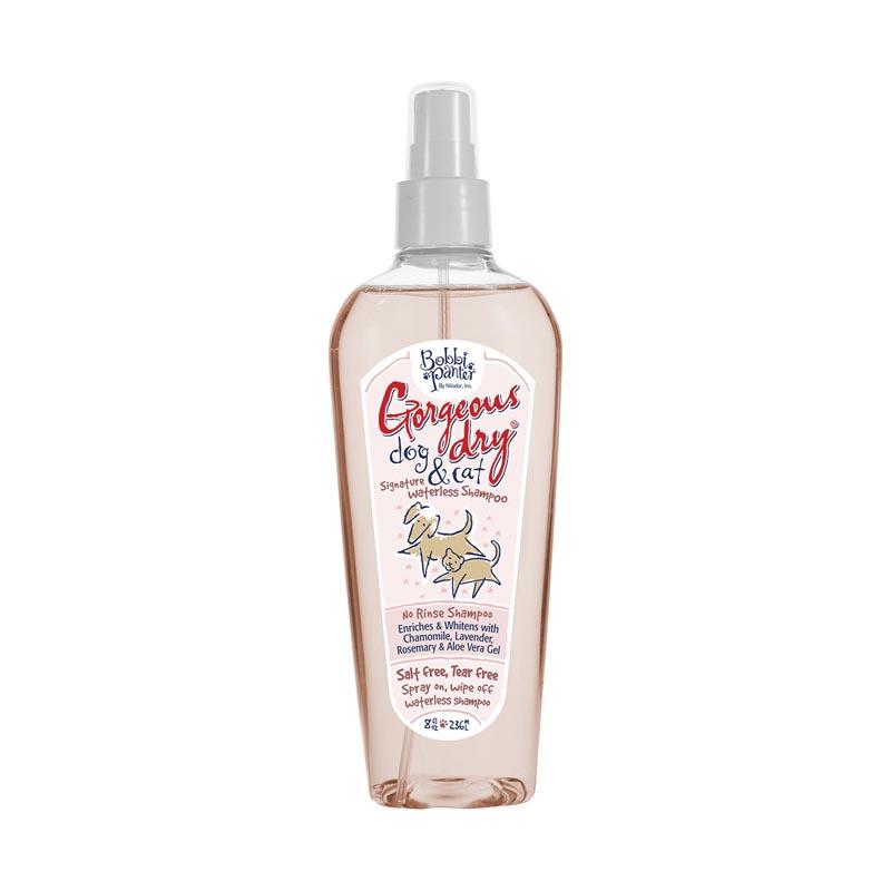 8 ounce Bobbi Panter Gorgeous Dry Dog and Cat Natural Waterless No Rinse Shampoo Spray