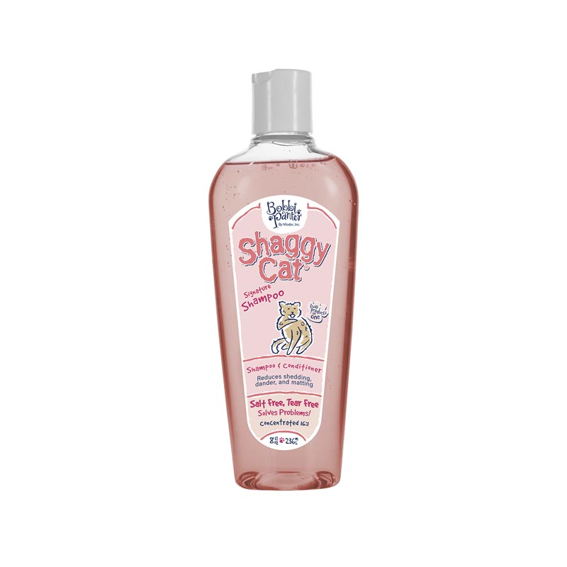 8 oz Two in One Bobbi Panter Natural Shaggy Cat Shampoo & Conditioner 16:1 Concentrate