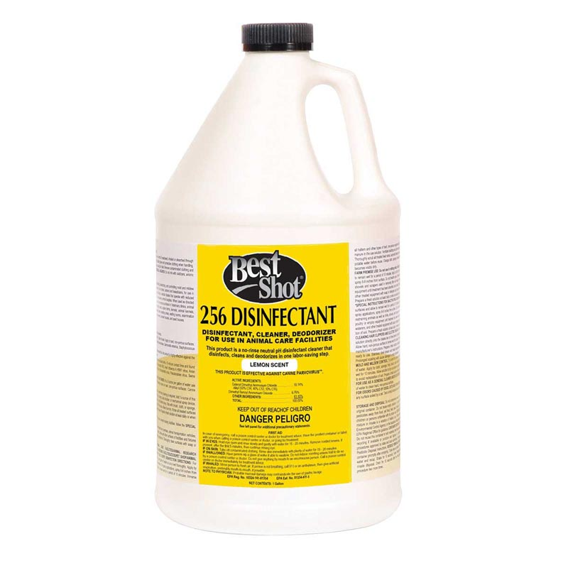 Gallon Best Shot 256 Disinfectant Lemon Cleaner and Deodorizer for use in Animal Care Facilities