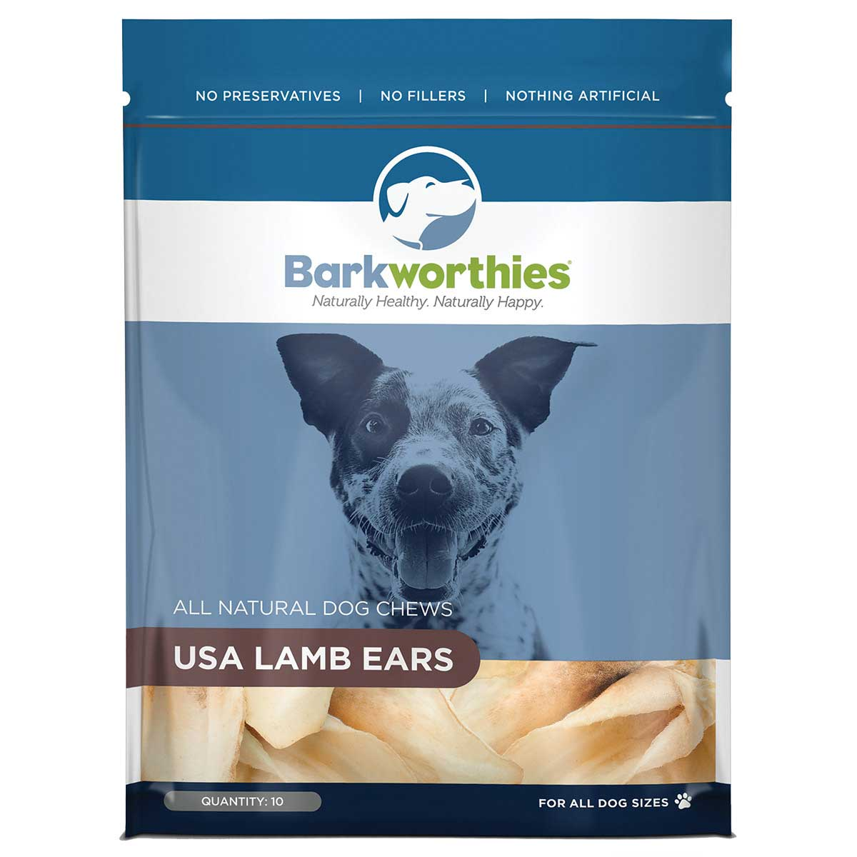 Bag of Barkworthies Lamb Ears 10 Pack - Chews for Dogs