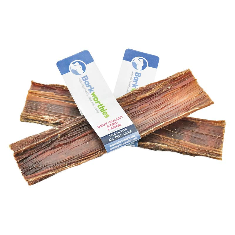 Barkworthies Beef Gullet Large Strip for Big Dogs - Natural Chew