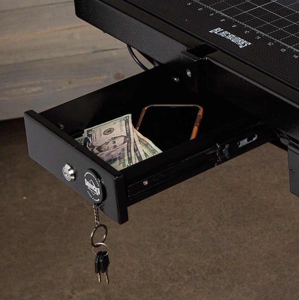 Blackworks Stealth Table Elite - lockable cash box on pet grooming table