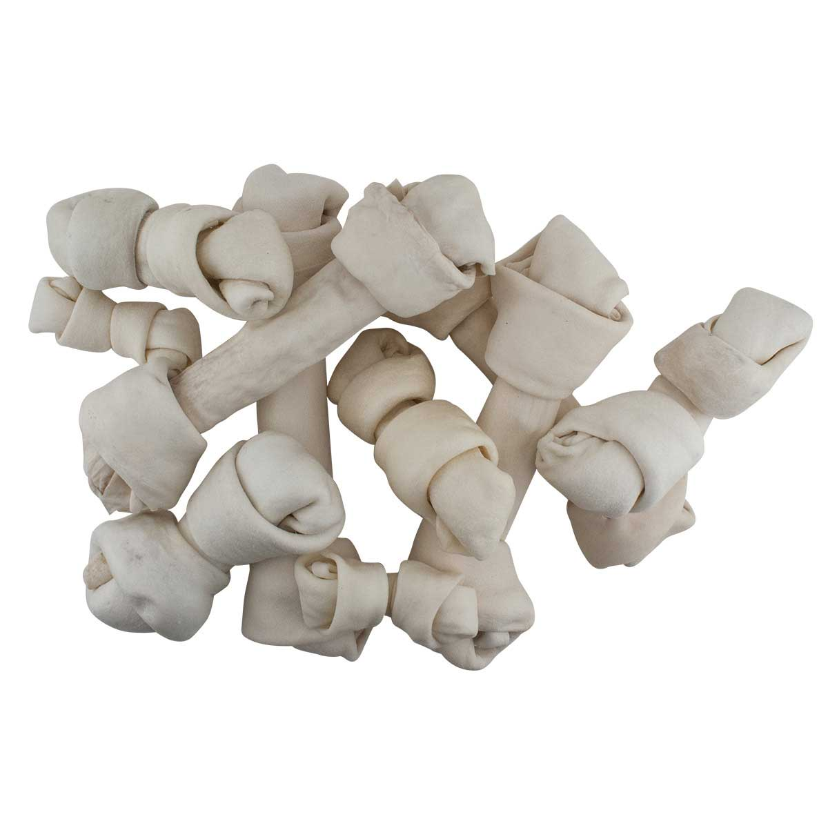 """X Large 14"""" - 15"""" Rawhide Knotted Bone Chew for Dogs"""