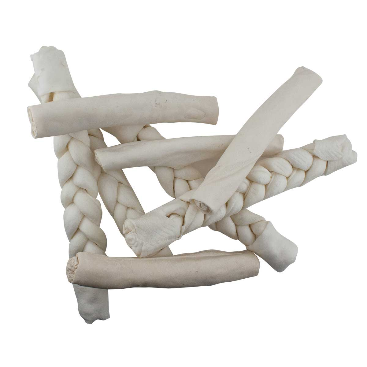 "For Dogs 6-7"" Rawhide Braided Retriever"