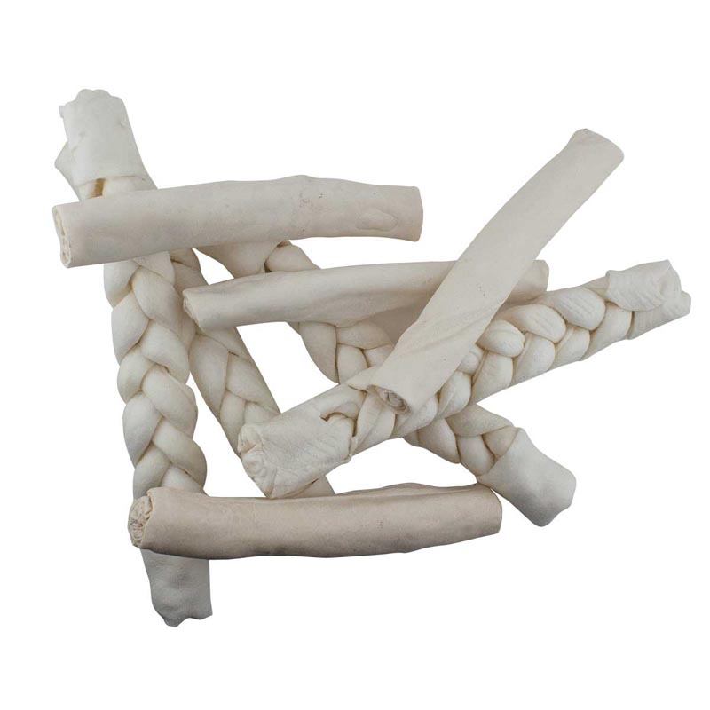 "12-13"" Rawhide Braided Retriever Dog Treat"