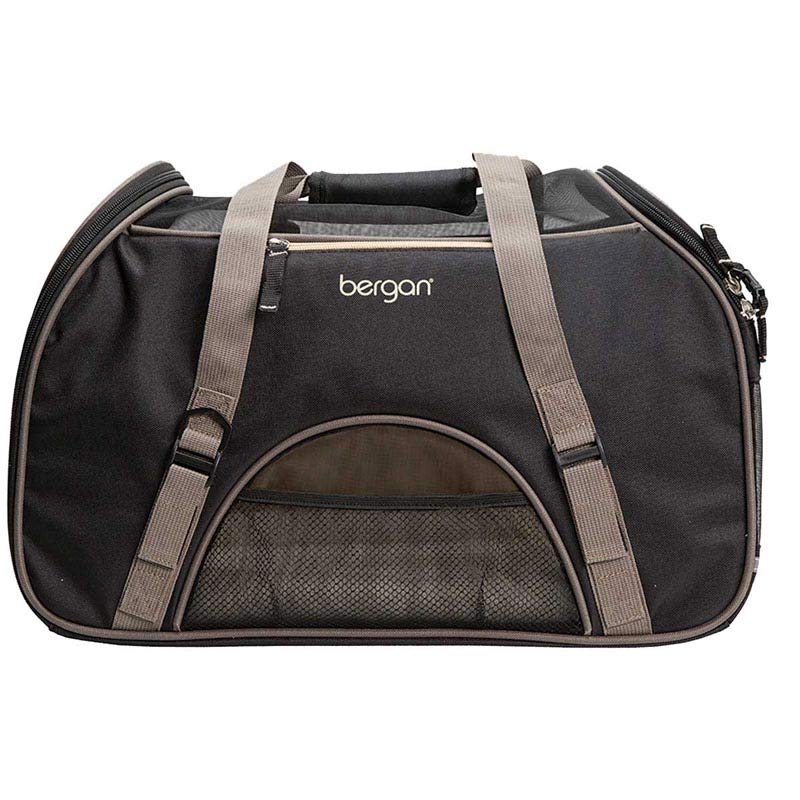 "Large Black Bergan Comfort Carrier for Small animals 12.5""L X 19""W X 10""D"