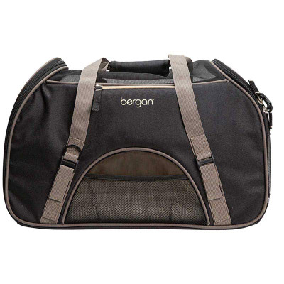 """Large Black Bergan Comfort Carrier for Small animals 12.5""""L X 19""""W X 10""""D"""