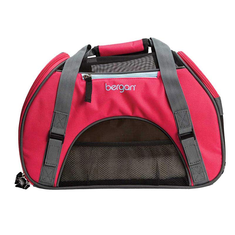 "Large Berry Bergan Comfort Travel Carrier for Animals 12.5""L X 19""W X 10""D"