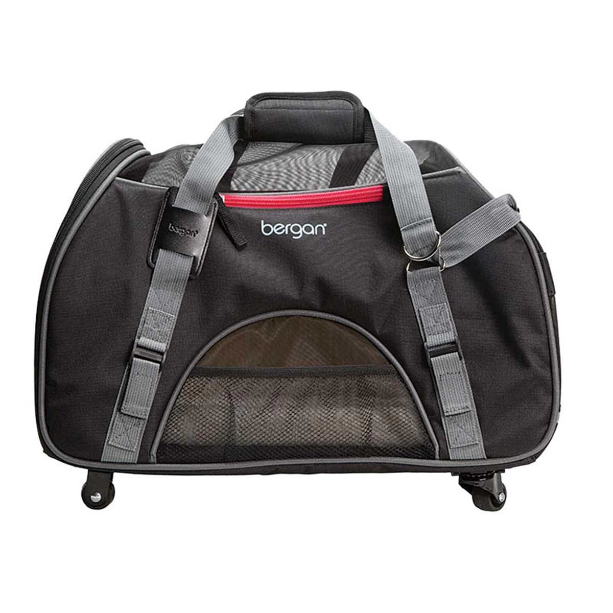 "Bergan Wheeled Comfort Carrier for Traveling with Small Animals 13""L X 19.75""W X 10.75""D"