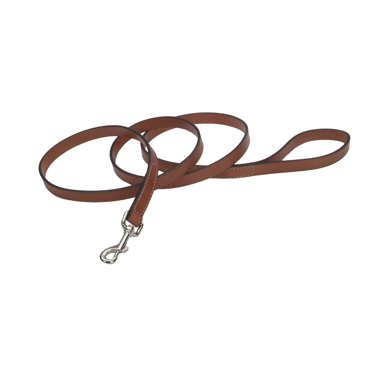 3/4 inches by 6 feet Tan Oak Tanned Leather Lead