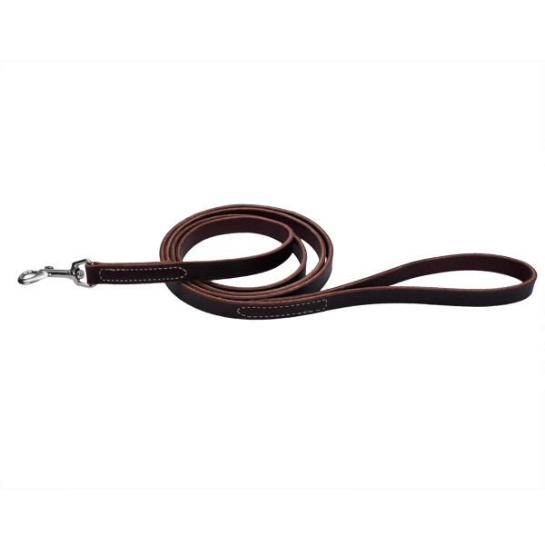 6 foot by 5/8 inch Coastal Flat Latigo Training Lead