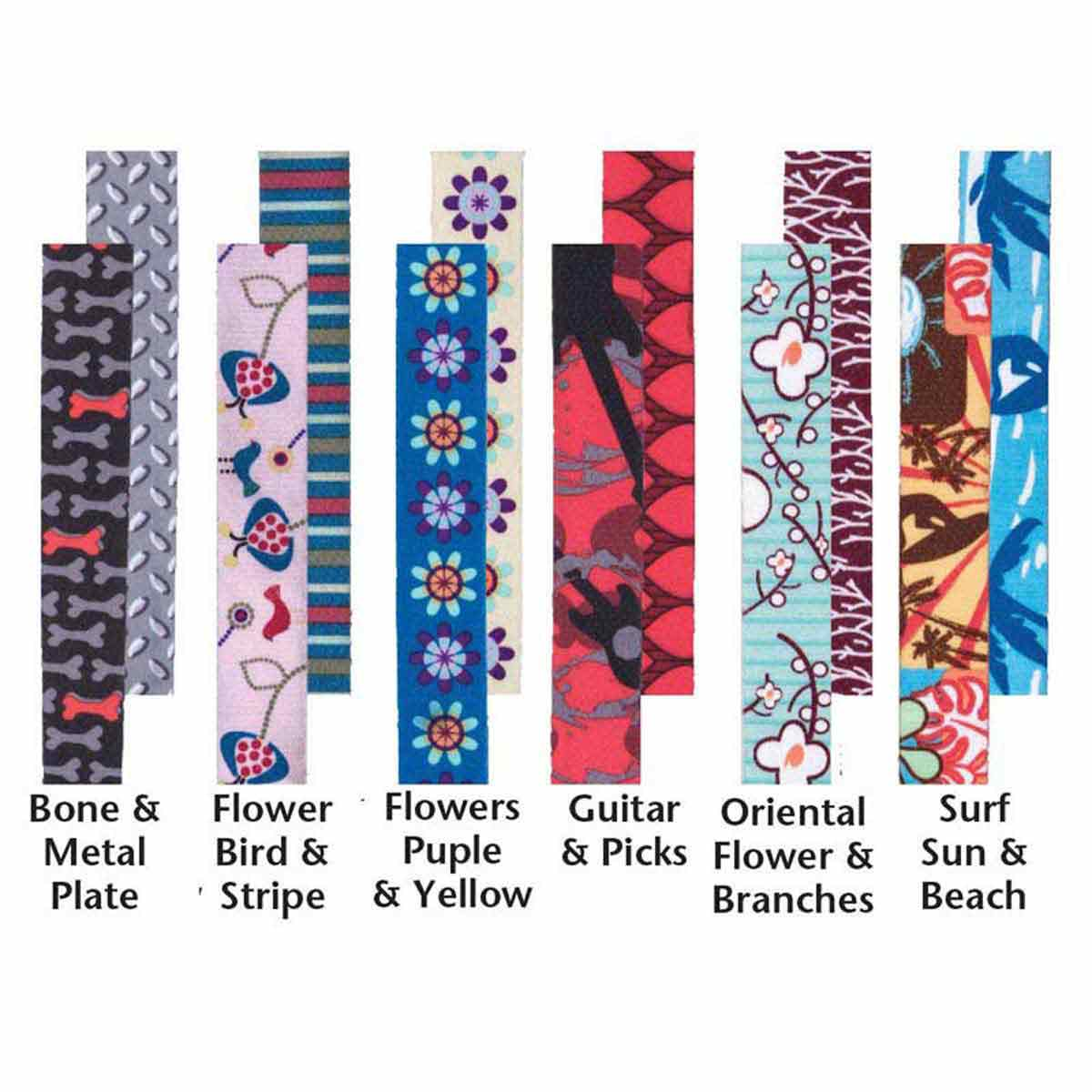 Assorted Patterns - Coastal Sublime Adjustable Dog Collars - 1.5 inch by 18-26 inches