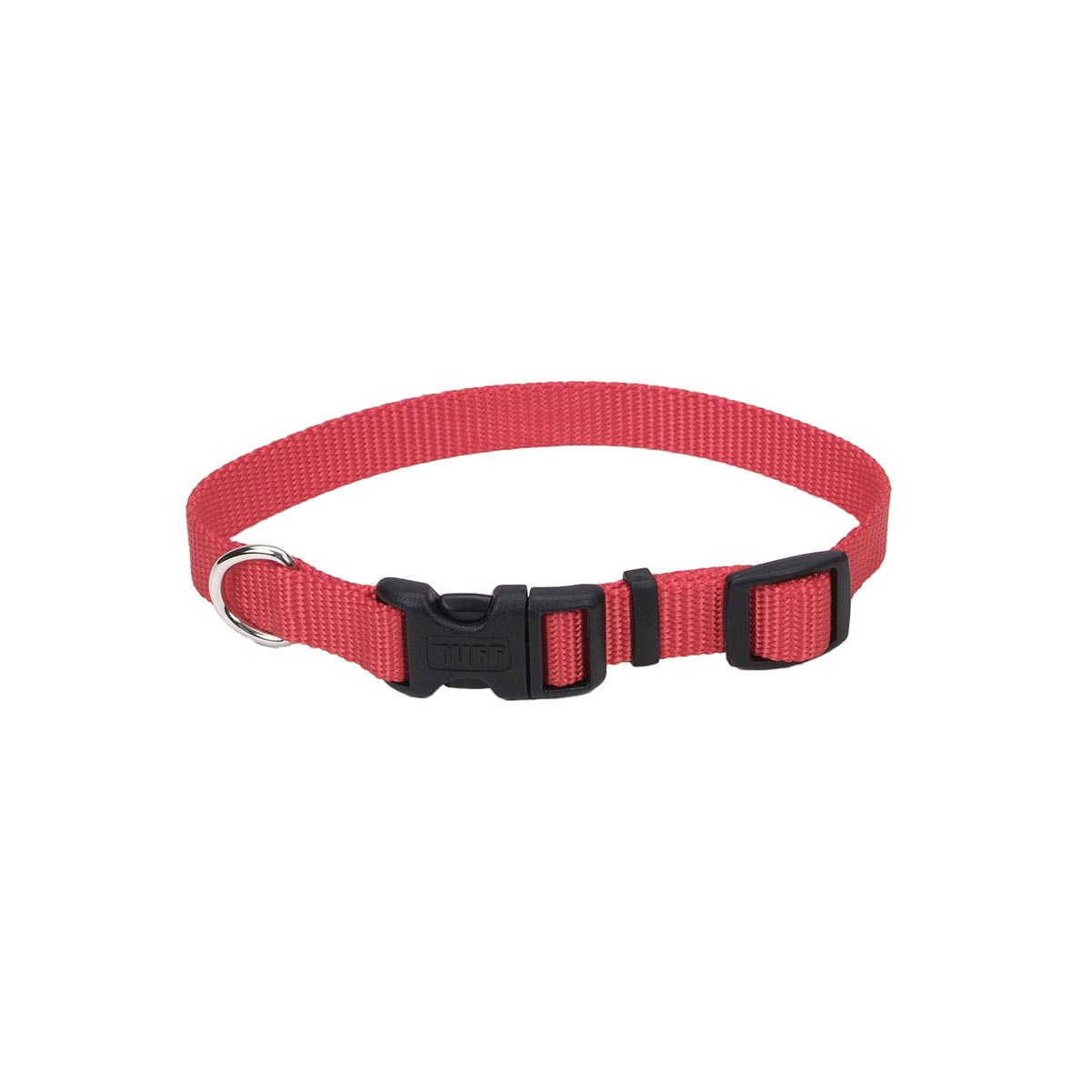 5/8 inch Coastal Adjustable Red Collar for Animals with Plastic Snaps
