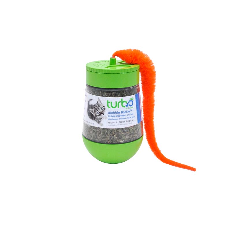 Turbo Wobble Bottle Catnip Cat Toy available at Ryan's Pet Supplies