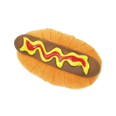 Li'l Pals Mini Toys Hot Dog 4 inch for Small Dogs