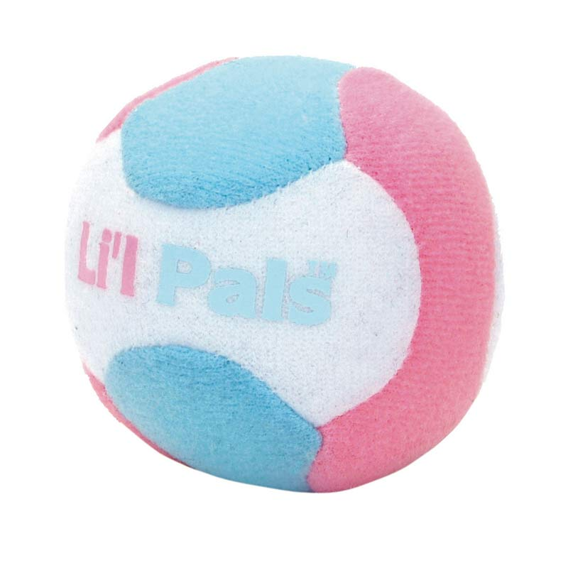 Li'l Pals Plush Ball With Bell 2 inch for Puppies and Small Dogs