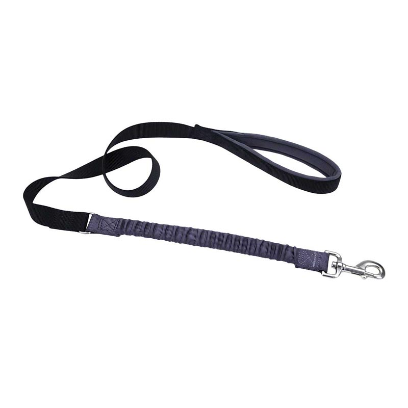 Black/Grey Coastal Bungee Leash - 1 inch by 4 feet