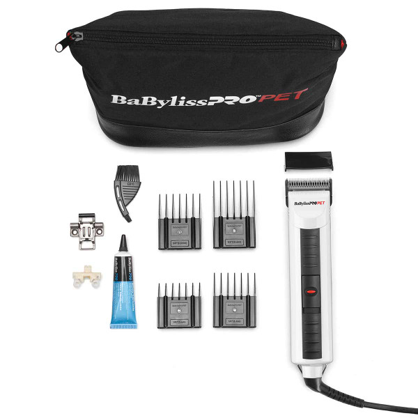 Carrying bag and accessories included with BaBylissPro PET Single Speed Brushless Motor Clipper