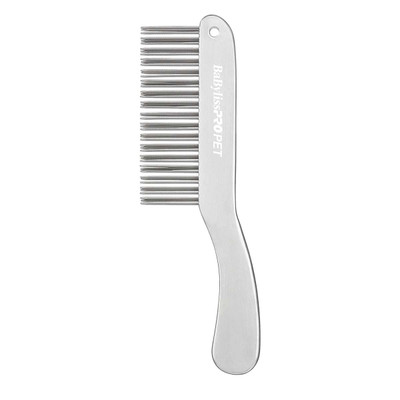 BaBylissPro PET Double Row Handle Comb - Silver