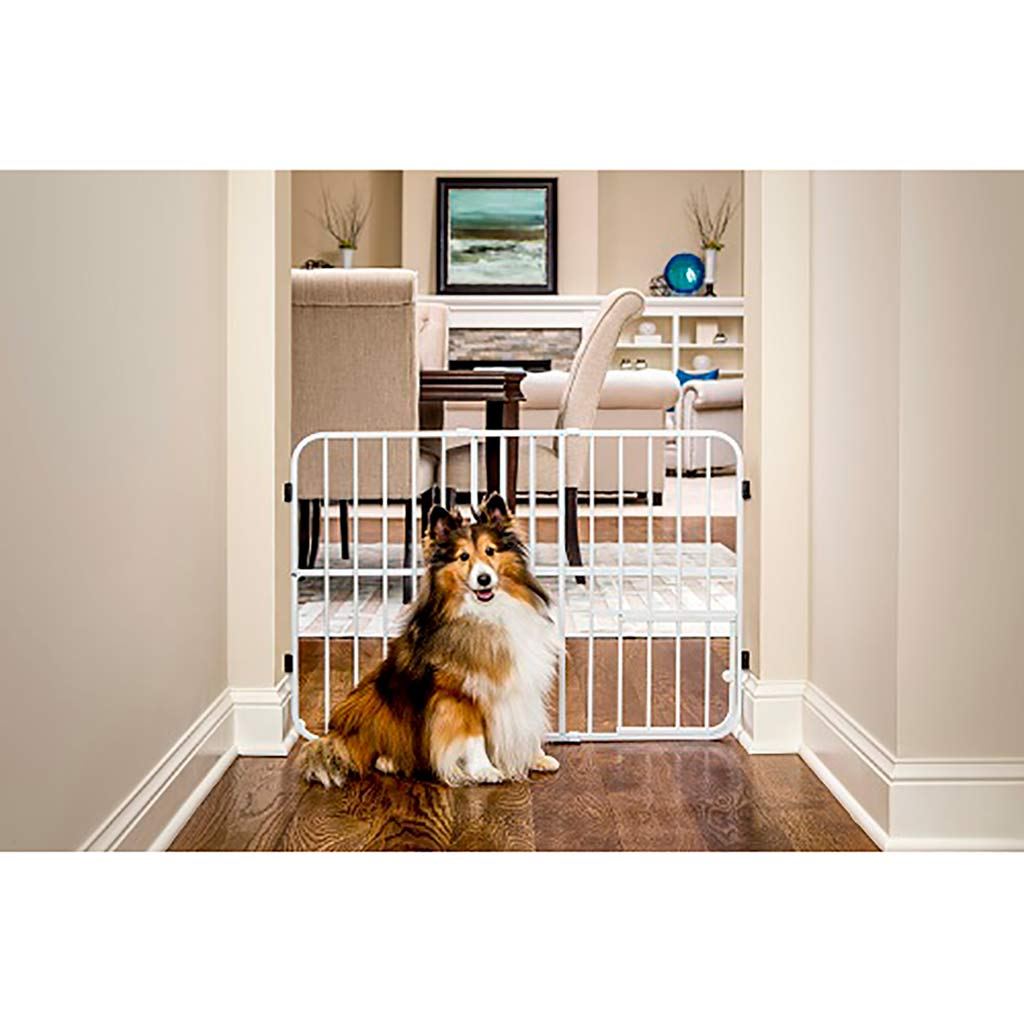Carlson Tuffy Tall Expandable Gate With Small Pet Door
