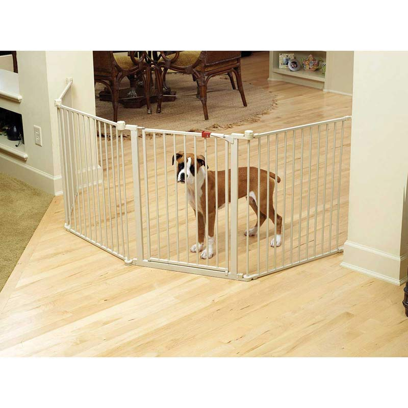Carlson Convertible Pet Yard used as Corner Gate