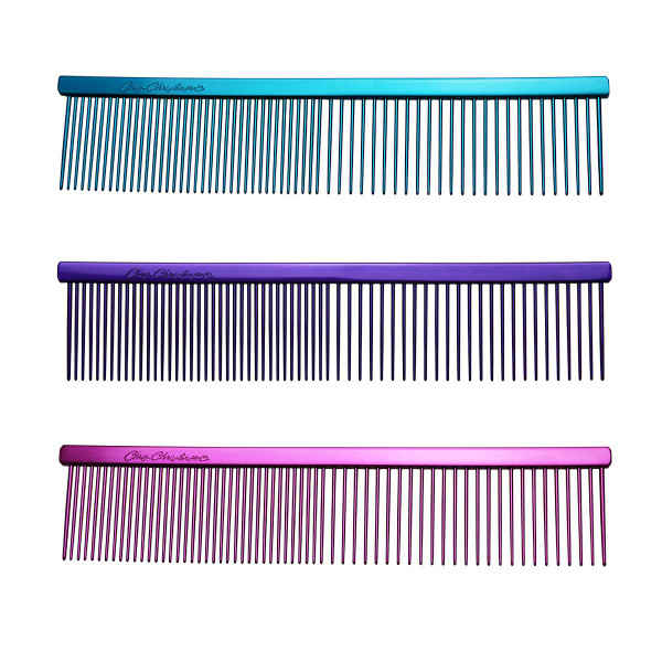 """Chris Christensen 7.5"""" Fine/Coarse Combs for Grooming Cats and Dogs"""