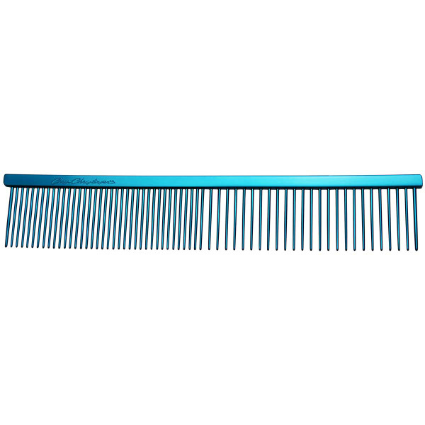 """Blue Chris Christensen 7.5"""" Fine/Coarse Combs for pet groomers"""