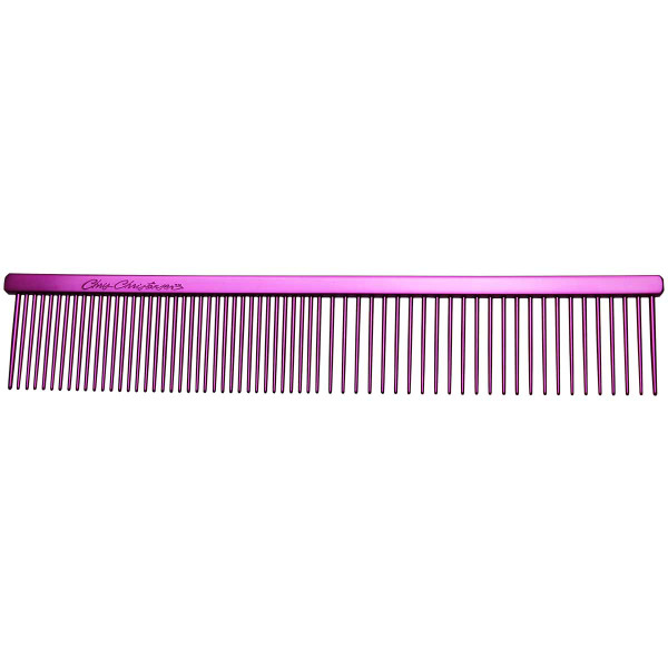 """Pink Chris Christensen 7.5"""" Fine/Coarse Combs for dogs"""