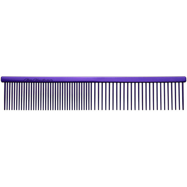 """Purple Chris Christensen 7.5"""" Fine/Coarse Combs for grooming"""