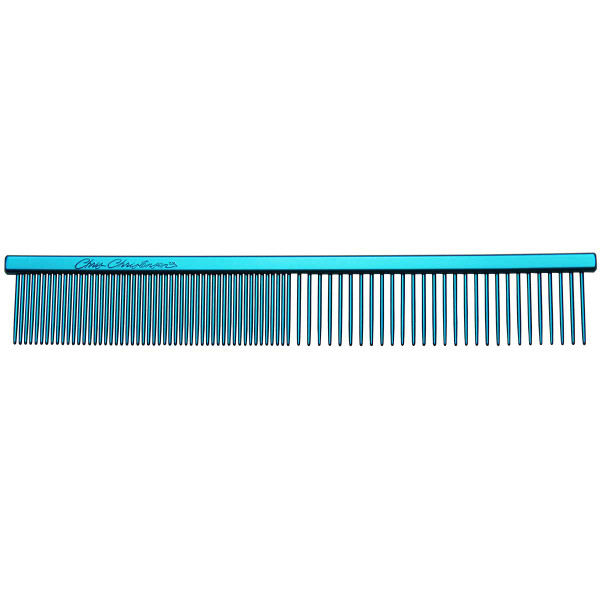 """Blue Chris Christensen 5"""" Fine/Coarse Combs for dogs and cats"""