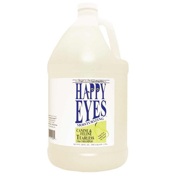 Gallon of Chris Christensen Happy Eyes Tearless Hypoallergenic Pet Shampoo