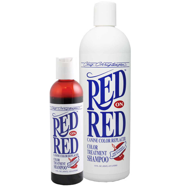 Restore red pigment with Chris Christensen Red on Red Pet Shampoo