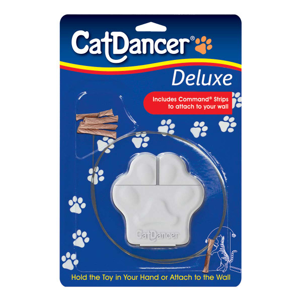 Cat Dancer Deluxe Cat Toy with Command Strips to attach to wall