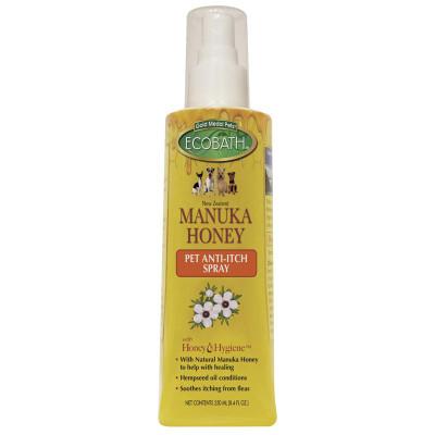 EcoBath Manuka Honey Anti-Itch Spray 8.4 oz available at Ryan's Pet Supplies