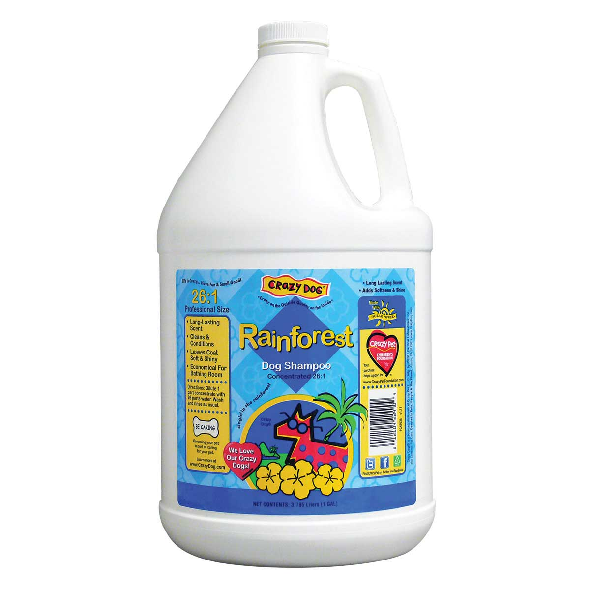 Crazy Dog Rain Forest Shampoo Gallon - 26 to 1