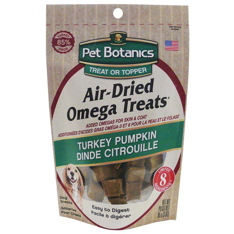 Pet Botanics Air Dried Omega Treat - Turkey/Pumpkin 3 ounces