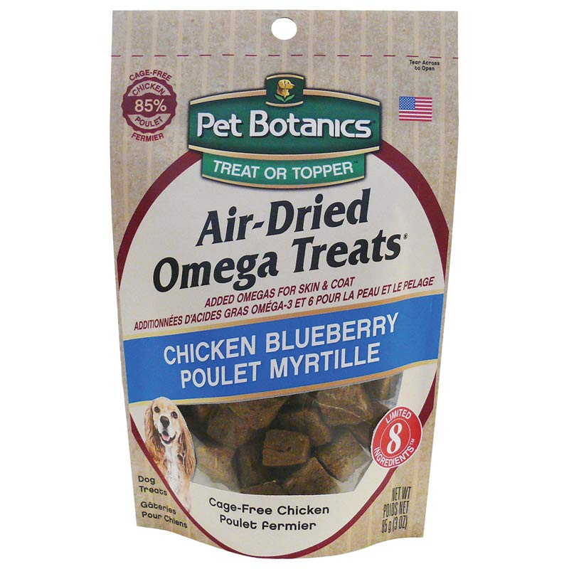 Pet Botanics Air Dried Omega Treat Chicken/Blueberry - 3 ounces
