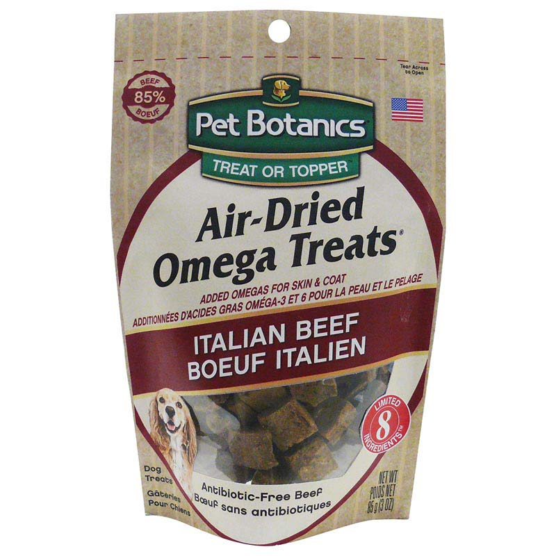3 ounces Pet Botanics Air Dried Omega Treat - Italian Beef