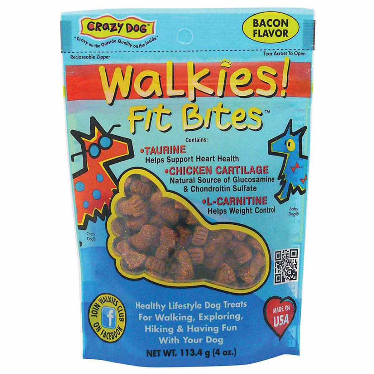 Crazy Dog Walkies! Fit Bites Bacon 4 ounce