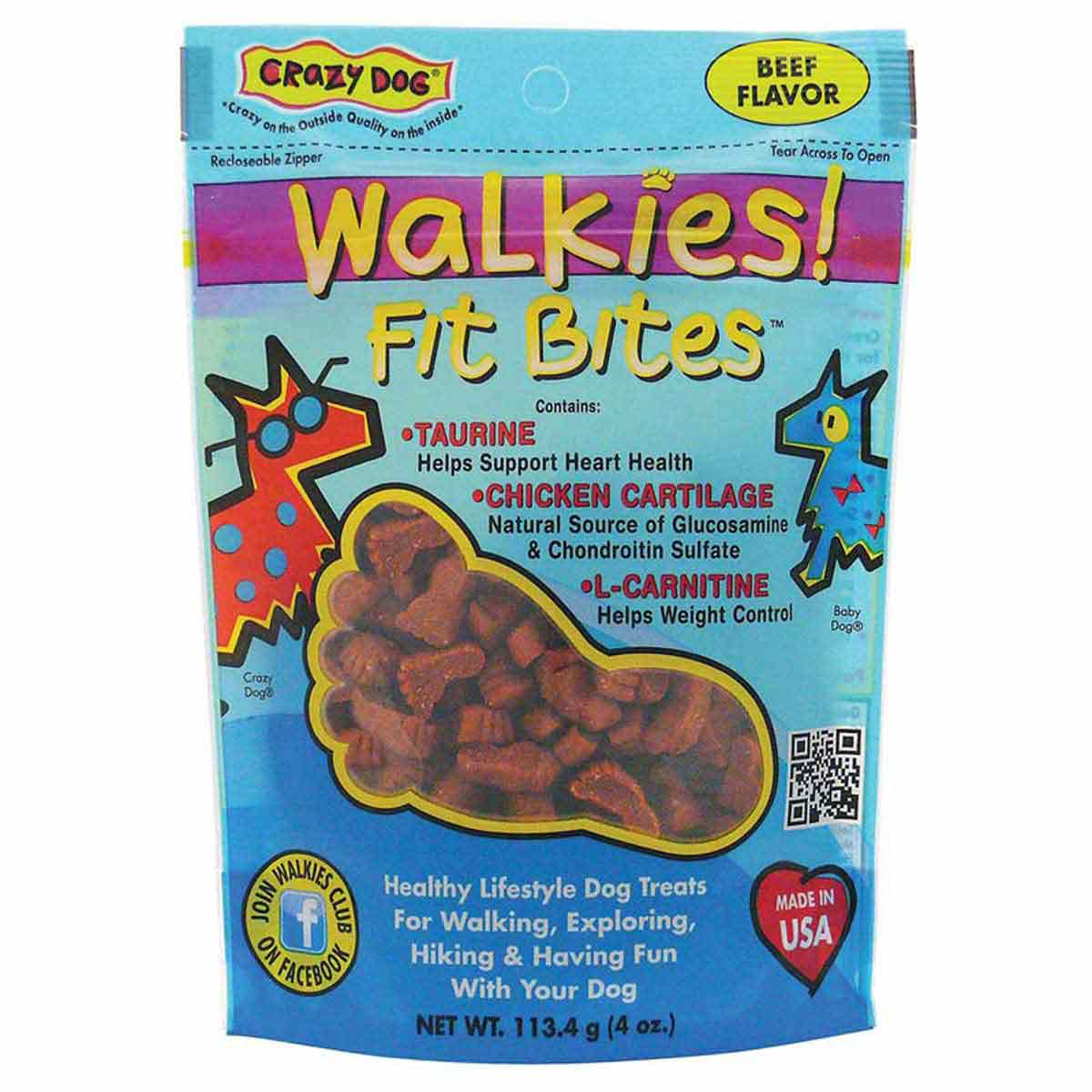 Crazy Dog Walkies! Fit Bites Beef Treats
