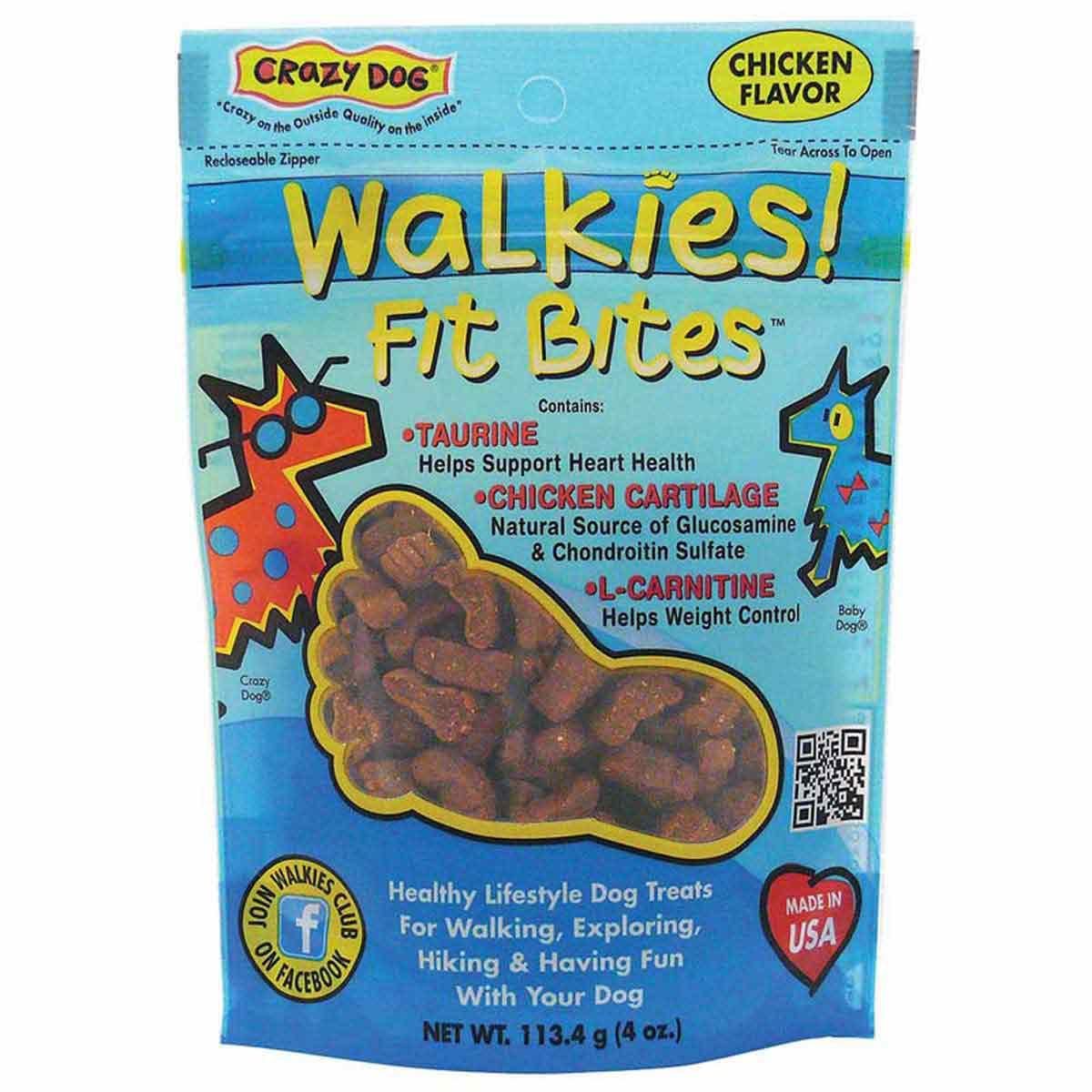 Crazy Dog Walkies! Fit Bites Chicken Treats - 4 ounces